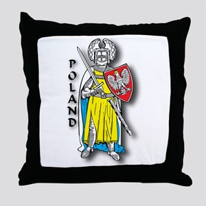 Poland Knight 2 Throw Pillow